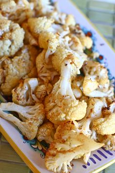 Spicy Roasted Cauliflower - this is REALLY good.  Even Matt mentioned how good it was, several times.