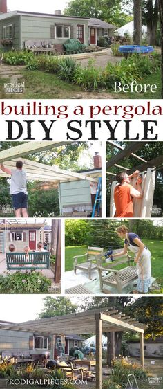 If You Give a Lady a Patio Set...this major patio overhaul is the result of receiving a free patio set. With a DIY attitude, we're creating an outdoor room complete with pergola, dining, swing, and living room. Come see! by Prodigal Pieces http://www.prodigalpieces.com #prodigalpieces