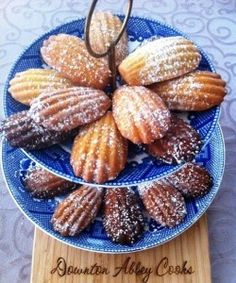 Madeleines, From Downtown Abbey Cooks, made with almonds and honey, and earl grey tea. Perfect.