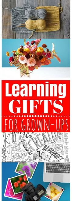 Grown-ups love to learn too! Kindle their interest in a hobby or goal by gifting them these great (and unique) learning gifts #giftformom #giftfordad #creativegifting #giftforsister #learning #hobbygift #christmasgift #birthdaygift #