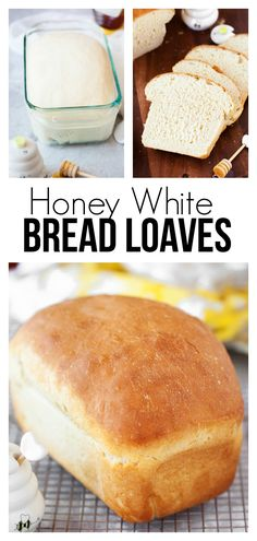 Honey White Bread Loaves: A soft and delicious bread recipe that stands out . - Honey White Bread Loaves: A soft and delicious bread recipe that is great for … – - Breakfast Sandwich Recipes, Sandwich Bread Recipes, Homemade Sandwich Bread, Quiche Recipes, Sandwiches, Homemade White Bread, Soft White Bread Recipe, White Bread Recipes, Loaf Bread Recipe