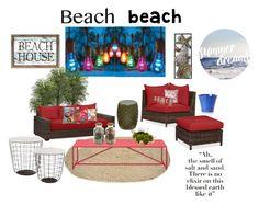 """Brach"" by marianaleonluzardo on Polyvore featuring interior, interiors, interior design, home, home decor, interior decorating, Improvements, Pottery Barn, Sagebrook Home and Pillow Decor"