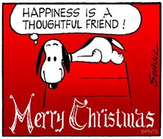 Merry Christmas Snoopy cartoon via www.Facebook.com/Snoopy