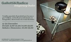 Temporary Outlet Gallotti &Radice-2013