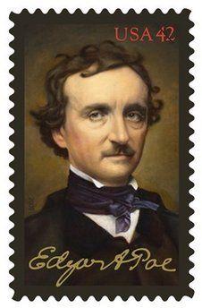 Literary Stamps: Poe, Edgar Allan (1809-1849)