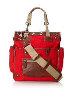 Beyond 50% OFF discounted Will Leather Goods Women's Liverpool Tote Bag (Red)