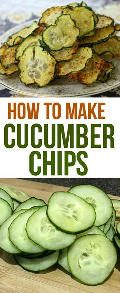 Cucumber Chips are easy to make and are delicious and healthy at the same time. They are the perfect snack for kids and adults. Cucumber Chips are easy to make and are delicious and healthy at the same time. They are the perfect snack for kids and adults. Healthy Chips, Healthy Snacks For Kids, Easy Snacks, Easy Meals, Healthy Snacks Savory, Snacks Recipes, Keto Snacks, Super Healthy Recipes, Healthy Drinks