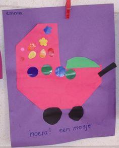 * Vouwen: kinderwagen Little Gifts, Diy For Kids, Babys, Infant, Preschool, Teaching, Projects, Kids Wagon, Babies