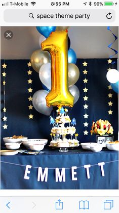 First Bday Ideas Blue Birthday Parties Boy 1st Simple