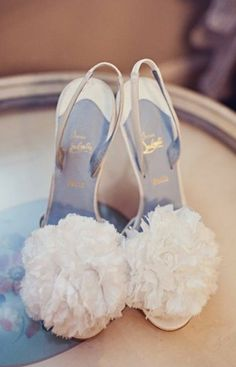 #Louboutin #Weddingshoes worn for this elegant Wedding featured in Style Me Pretty.