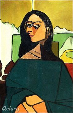 Mona Lisa in the Picasso Style, Cubism, pop art, by La Gioconda.