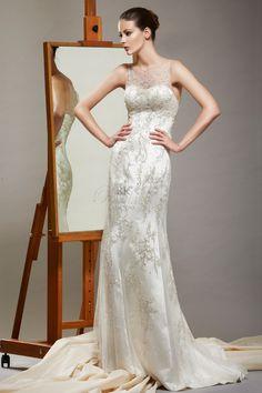 RK BRIDAL NYC     Saison Blanche Bridal Spring 2014 - Style 4232 Duchess Satin