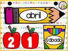 Classroom Themes, Classroom Organization, Classroom Decor, Class Decoration, School Decorations, Abc Preschool, Kindergarten Centers, Kids Learning Activities, School Hacks