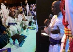 Former President Olusegun Obasanjo was spotted rocking this celestial outft at an event recently. http://ift.tt/2tVgjSn