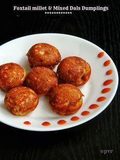 Foxtail Millet & mixed dals dumplings