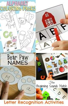 Letter Recognition Activities We asked some talented parents, educators, and bloggers for their best Pre-handwriting and Alphabet Printables and they responded with a wealth of learning activities!