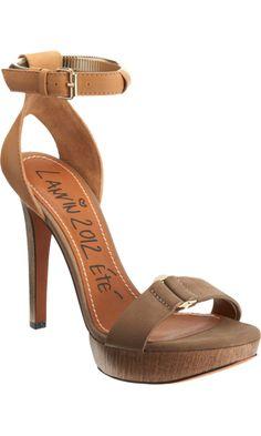 Lanvin Coiled Metal Ankle Strap Sandal