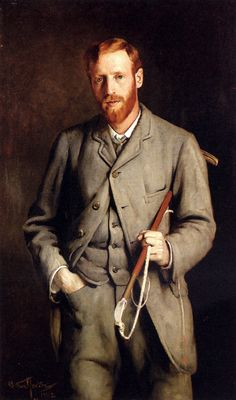 A Ginger-haired man: Arthur Hacker - Portrait of the Artist's Brother