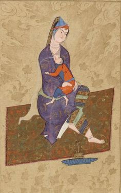 Album de calligraphies et de peintures Date d'édition : seconde moitié du XVIe siècle Type : manuscrit Langue : Persan