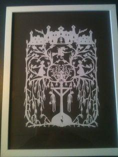 "1250,- original William Frohn "" lille Idas blomster "" frit efter HC Andersens eventyr Original 22*32 cm indrammet"