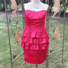 BOGO FREE SALENWT Beautiful Red Dress with Ruffles Beautiful red dress. Strapless short cocktail dress with Ruffles Open to offers / bundles No Trades No PayPal Ruby Rox Dresses Strapless