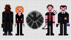 avengers xstitch - SHIELD agents