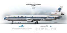 Mcdonnell Douglas MD-11 VARIG PP-VOP | www.aviaposter.com | #airliners #aviation #jetliner #airplane #pilot #aviationlovers #avgeek #jet #sideplane #airport #md11