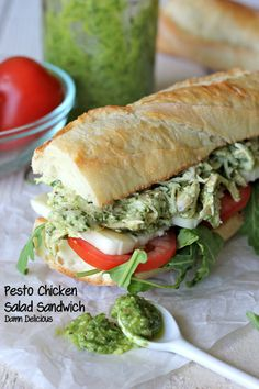 Chicken Pesto Sandwich  @Trent Butts-Ah Rhee