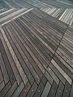 i know it's a deck, but it's a cool pattern for indoor floors.  Schouwburgplein, Rotterdam, Netherlands (West 8, architects).