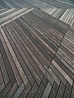 i know it's a deck, but it's a cool pattern for indoor floors.  Schouwburgplein, Rotterdam, Netherlands (West 8, architects).