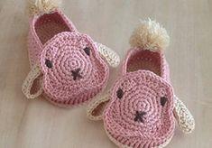 Rabbit Lop Baby Booties Crochet PATTERN by Kittying