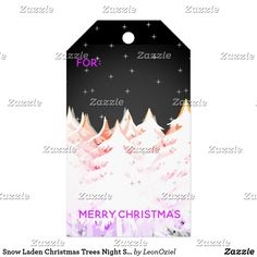 Shop Snow Laden Christmas Trees Night Sky Gift Tags created by LeonOziel. Happy Holidays, Christmas Holidays, Christmas Gifts, Christmas Trees, Stationery Craft, Gel Ink Pens, Custom Ribbon, Old Newspaper, Personalized Gift Tags