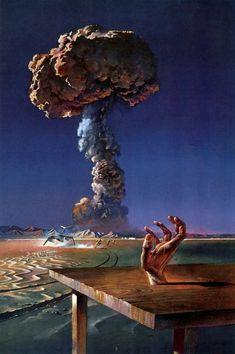 "snuh: ""Bruce Pennington: Indoctrinaire - New English Library November 1971 "" Arte Horror, Horror Art, Art Science Fiction, Arte Sci Fi, 70s Sci Fi Art, Pulp Art, Dragon Art, Retro Art, Portfolio"