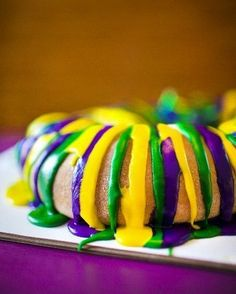 King Cake- I should remember to bring one in for my kids for the start of Lent