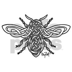 Celtic Knotwork Bee - black lines Sticker (Rectangle) Celtic Knotwork Bee - black li Sticker (Rectangle) by Pat-O-Fish - CafePress Celtic Symbols, Celtic Art, Celtic Knots, Celtic Dragon, Druid Symbols, Celtic Crafts, Mayan Symbols, Egyptian Symbols, Ancient Symbols