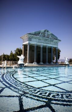 architecture, pool, hearst castle, neptune pool