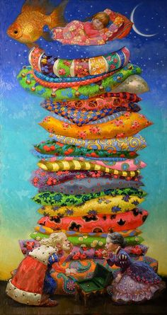 Story Time: ⭐⭐⭐Princess on the Pea. The Fairy Tale of Hans Christian Andersen Through the Eyes of Artist Victor Nizovtsev. Art And Illustration, Illustrations, Fantasy Kunst, Fantasy Art, Victor Nizovtsev, Art Fantaisiste, Creation Photo, Arte Sketchbook, Princess And The Pea