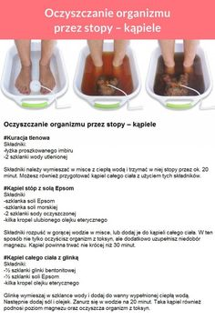 Oczyszczanie organizmu przez stopy - KĄPIELE!!! Natural Cleaning Solutions, Body Detox, Raw Food Recipes, Healthy Recipes, Clean Eating, Healthy Eating, Organisation, Health And Beauty, Healthy Lifestyle