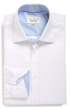 Free shipping and returns on Ted Baker London Trim Fit Herringbone Dress Shirt at Nordstrom.com. Charming contrast trim lines the spread collar and adjustable button cuffs of a herringbone dress shirt cut from fine cotton.