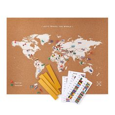 Cork Map with World Flag Pins Cork World Map, Cork Map, World Map With Pins, Flags Of The World, Interactive World Map, Memorial Day Activities, American Flag Crafts, Travel Map Pins, Burlap Garden Flags