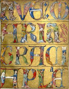 Acrostiche du Ave Maria. Heure de Charles d'Angoulême. Horae ad usum Parisiensem. Latin 1173. 1485. (source: Bibliothèque nationale de France)