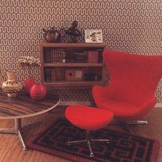 #arnejacobsenminiature #dollhouse #miniature #eggchair #briomobilia #brio #mobilia #Lundby #Puppenstube #puppenhaus #arnejacobsen #lundbydollhouse #danishdesign #dockhus #dockskåp  #dockskåpsrenovering