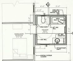Very small bathroom floor plans tiny house home design sink wonderful cabinet newest with meas Tree House Plans, Pole Barn House Plans, Pole Barn Homes, Shop House Plans, Small House Plans, House Floor Plans, Build House, Pole Barns, Layout Design