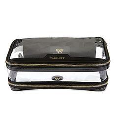 ANYA HINDMARCH Cosmetic flight bag (Black
