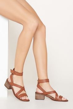 2a089810f2 Block Heel Sandals | Forever 21 - 2000170739 Mid Heel Sandals, Mid Heel  Shoes,