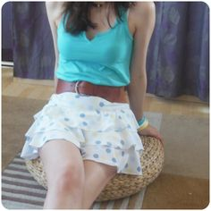 pastel dotted skirt