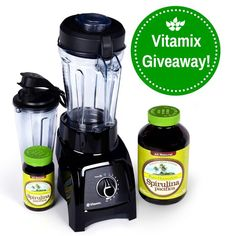 Pinning this image just entered me in a competition to win this Vitamix!