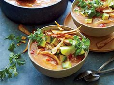 Chilly evenings call for a comforting soup with a bit of restorative kick and plenty of vibrant toppings. Top with tortilla chips, or mak...