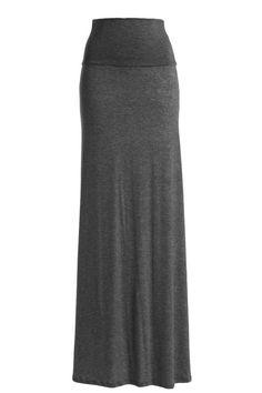 Women's RAYON MODAL Solid Flared Maxi Long Skirt (Medium, Charcoal) #SOLID #MaxiSkirt