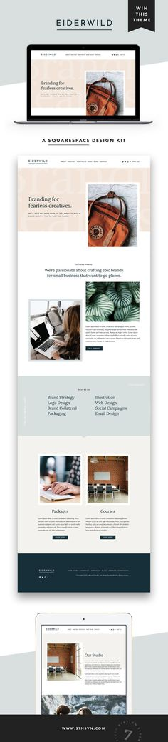 Squarespace Kit Station Seven Squarespace Templates WordPress Themes and Free Resources for Creative Entrepreneurs GIVEAWAY Introducing our latest web design for Squares. Web Design Trends, Ui Design, Minimal Web Design, Web Design Tips, Blog Design, Layout Design, Branding Design, Web Layout, Creative Design